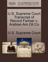 U.s. Supreme Court Transcript Of Record Farmer V. Arabian Am Oil Co