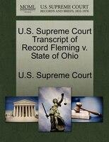 U.s. Supreme Court Transcript Of Record Fleming V. State Of Ohio