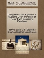 Dillingham V. Mclaughlin U.s. Supreme Court Transcript Of Record With Supporting Pleadings