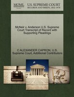 Mcneir V. Anderson U.s. Supreme Court Transcript Of Record With Supporting Pleadings