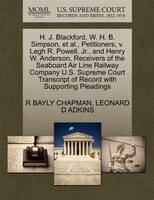 H. J. Blackford, W. H. B. Simpson, Et Al., Petitioners, V. Legh R. Powell, Jr., And Henry W. Anderson, Receivers Of The Seaboard A