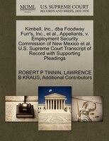 Kimbell, Inc., Dba Foodway Furr's, Inc., Et Al., Appellants, V. Employment Security Commission Of New Mexico Et Al. U.s.