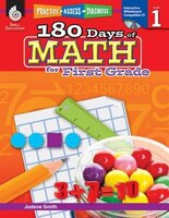 Practice, Assess, Diagnose:  180 Days Of Math For First Grad