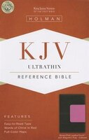 KJV ULTRATHIN REFERENCE BIBLE, BROWN/PINK LEATHERTOUCH WITH MAGNETIC F