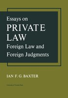 Essays on Private Law: Foreign Law and Foreign Judgments