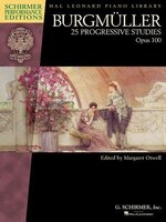 Burgmuller - 25 Progressive Studies, Opus 100: Schirmer Performance Editions Book Only
