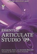 Essential Articulate Studio 09 is designed to help novice to intermediate users of Articulate Studio 09 get the most from using these toolsPresenter, Engage, Quizmaker, and Video Encoderto develop quality informational and instructional materials