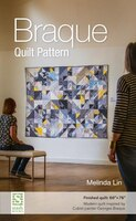Braque Quilt Pattern: Finished Quilt: 60 X 76 - modern Quilt