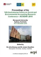 A-CSEAR 2015 - 14th Australasian Centre on Social and Environmental Accounting  Research Conference