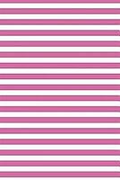 Lizzie Timewarp Notebook (pink and white striped)