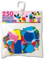 """250 Gommettes """"maternelle"""" Ass./ 12 F.-10 C."""