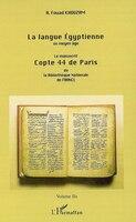 La langue Egyptienne au moyen âge