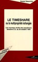 Le timeshare ou la multipropriété échangée (9782738433138 978273843313) photo