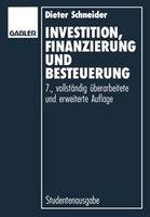 Investition, Finanzierung und Besteuerung