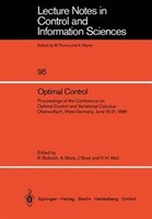 Optimal Control: Proceedings of the Conference on Optimal Control and Variational Calculus Oberwolfach, West-Germany