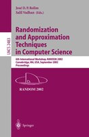 Randomization And Approximation Techniques In Computer Science: 6th International Workshop, RANDOM 2002, Cambridge, MA, USA, Septe