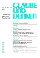 Glaube und Denken: Jahrbuch der Karl-Heim-Gesellschaft- 25. Jahrgang 2012