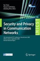 Security and Privacy in Communication Networks: 5th International ICST Conference, SecureComm 2009, Athens, Greece, September 14-1