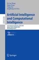 Artificial Intelligence and Computational Intelligence: International Conference, AICI 2010, Sanya, China, October 23-24, 2010, Pr