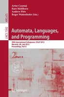 Automata, Languages, and Programming: 39th International Colloquium, ICALP 2012, Warwick, UK, July 9-13, 2012, Proceedings, Part I