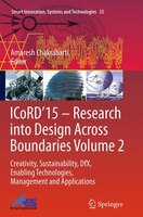 Icord'15 - Research Into Design Across Boundaries Volume 2: Creativity, Sustainability, Dfx, Enabling Technologies,