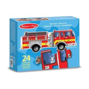 Giant Fire Engine Floor Puzzle -  24 Pieces