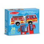 Giant Fire Engine Floor Puzzle -  24 Pieces