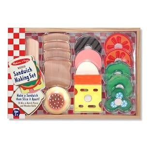 Sandwich Making Set Wooden Play Food