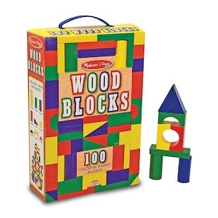 Melissa & Doug Wood Block Set 100 Pcs