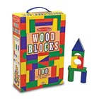 Melissa & Doug Wood Block Set 100 Pcs