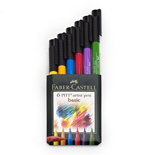 Basic Pitt Artist Pen 6 Pack