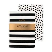 GO Stationery Monochrome Stripe/Spotty Set of 2 Notebooks by Go Stationery