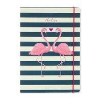GO Stationery Flamingo Stripe A5 Notebook by Go Stationery