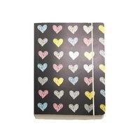 GO Stationery Chalk Hearts Chunky A6 Notebook by Go Stationery