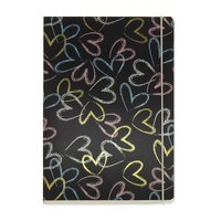 GO Stationery Chalk Hearts A5 Notebook by Go Stationery