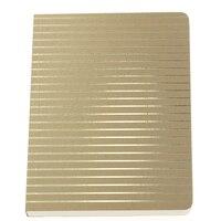 GO Stationery Shimmer Fine Stripe A6 Notebook - Gold by Go Stationery