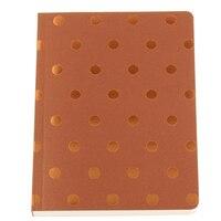 GO Stationery Shimmer Polka A6 Notebook - Copper by Go Stationery