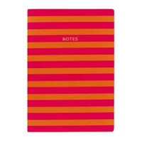 GO Stationery Colourblock A4 Ntbk - Pink/Orange Stripe by Go Stationery