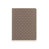 GO Stationery Shimmer Gold Polka A6 Notebook - Taupe by Go Stationery