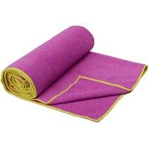 Gaiam Thirsty Yoga Mat Towel - Radiant Orchid / Citron