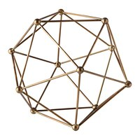 Small Polygon Antique Brass Décor Ball by Torre & Tagus
