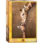 1000 PC Puzzle - Giraffe Mother's Kiss