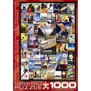 Canadian Pacific Collage 1000 Piece Puzzle