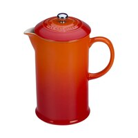 Le Creuset Stoneware 27-Ounce French Press, Flame-(Volcanic)