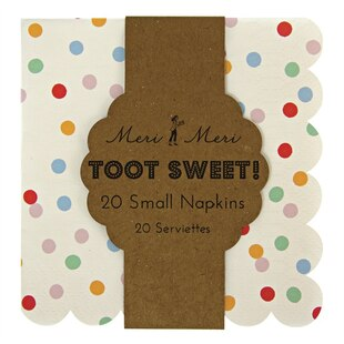 Toot Sweet Spotty Napkins – Small