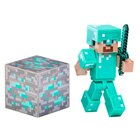MINECRAFT DIAMOND STEVE W/ ACCESSORY