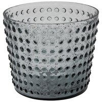 Flora Glass Texture Pot Vase - Gray by Eightmood