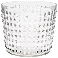 Flora Glass Texture Pot Vase - Clear by Eightmood