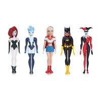 Batman: The New Animated Adventures Girls' Night Out Batgirl, Harley Quinn, Live Wire, Poison Ivy and Supergirl - 5-Pack