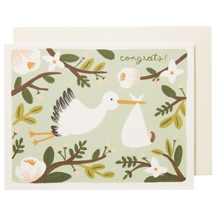 CONGRATULATIONS STORK GREETING CARD